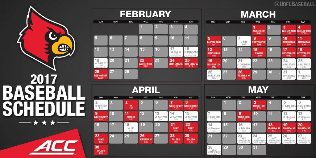 2017 Louisville Baseball Schedule Release | Cardinal ...